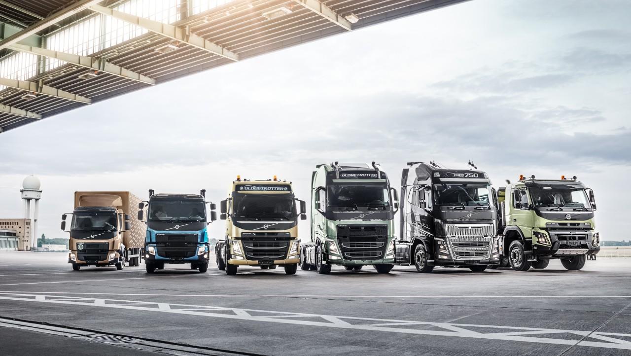 Volvo trucks managing dynafleet positioning truck lineup